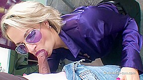 Hot Secretary Gives Blowjob In The Office - Denise Derringer