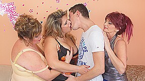 Three Mature Ladies Sharing One Hard Cock - MatureNL